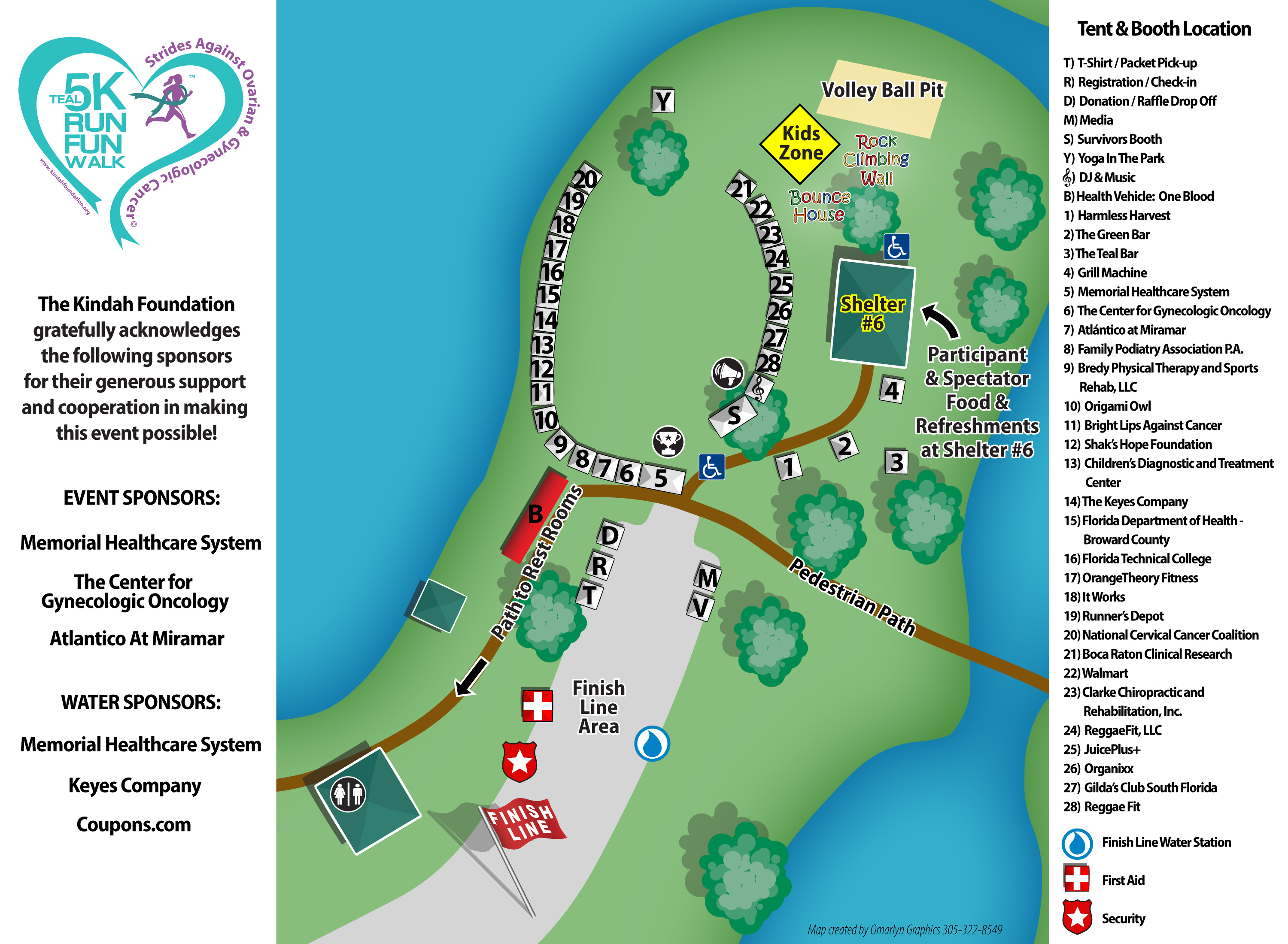 Teal Event Site Map - Awareness Network